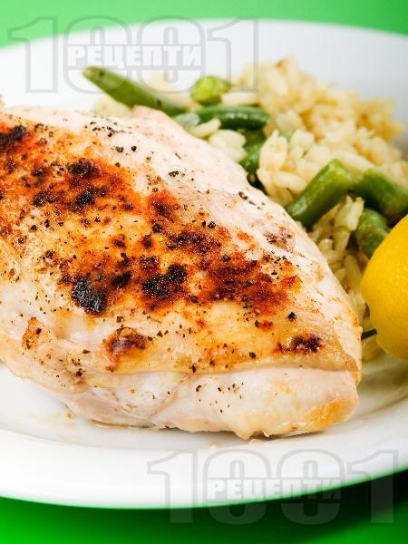 Лимонено пиле с ризото със зелен фасул - снимка на рецептата